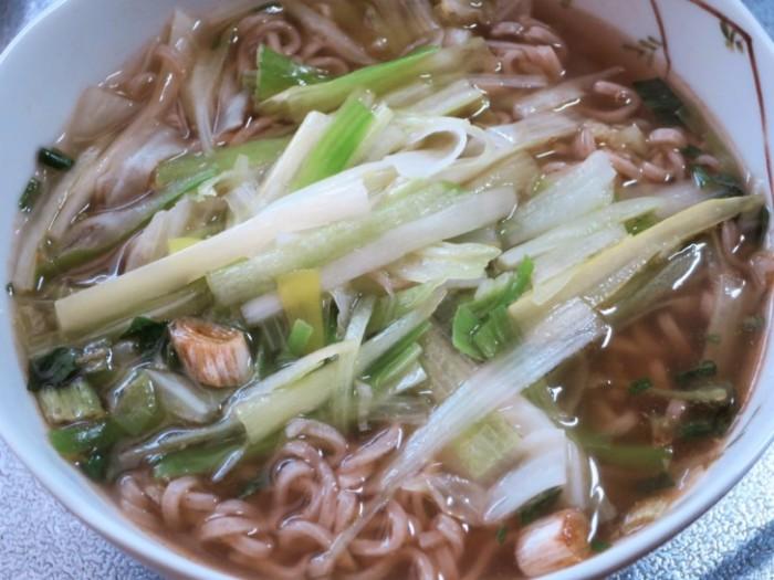 お湯かけ麺