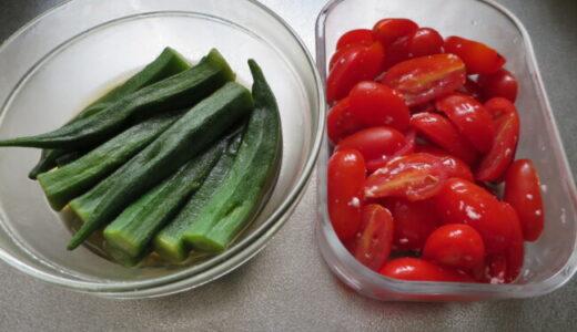 浅漬けとトマトとオクラ